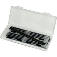 Boîte de 10 fers réversibles jetables pour rabot électrique 82 x 5,5 x 1,1mm LEMAN 142.782.10
