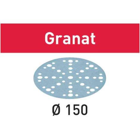 Boîte de 100 abrasifs D150mm STF 48 +1 trous grain 180 FESTOOL 575166