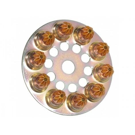 Boîte de 100 Disques charge à poudre 6.3/10 moyenne Jaune SPIT - 031700