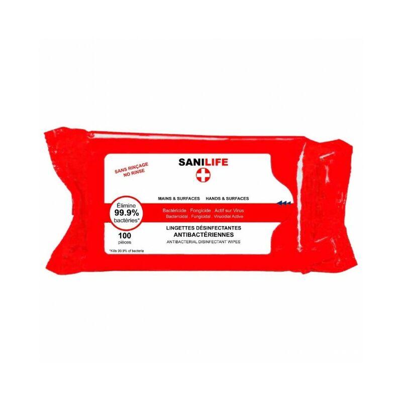 Lot de 5 boites de 100 lingettes désinfectantes - Rouge
