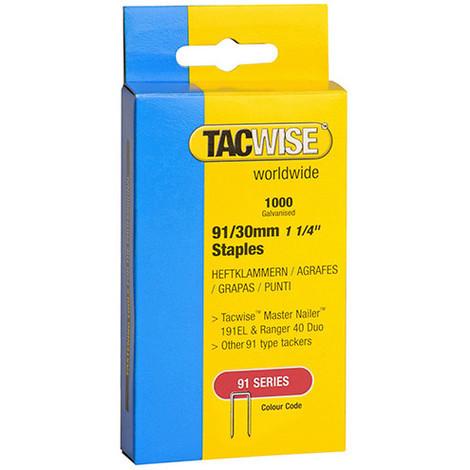 Boîte de 1000 agrafes à couronne étroite type 91 L. 30 mm - TA-0286 - Tacwise - -