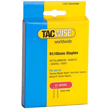 Boîte de 1000 agrafes à couronne étroite type 91 L. 45 mm - TA-1174 - Tacwise - -