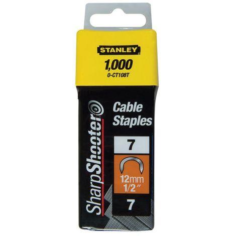 Boîte de 1000 agrafes cavaliers type7 10mm STANLEY 1-CT106T