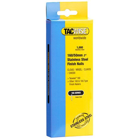 Boîte de 1000 clous de finition en acier inoxydable de type 16G L. 50 mm - TA-1098 - Tacwise - -