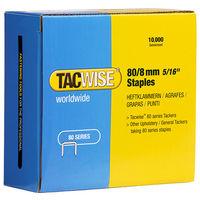 Boîte de 10000 agrafes galvanisées de type 80 L. 8 mm - TA-0382 - Tacwise - -