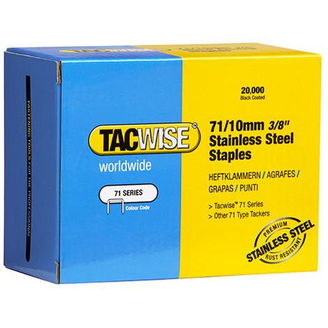 Boîte de 20000 agrafes en acier inoxydable type 71 L. 10 mm - TA-0375 - Tacwise - -