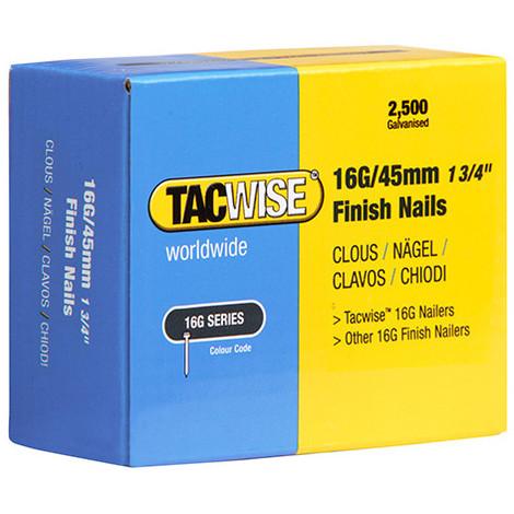 Boîte de 2500 clous de finition de type 16G L. 45 mm - TA-0297 - Tacwise - -