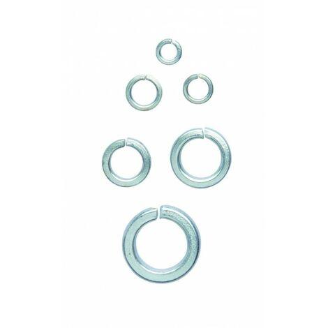 Boite de ± 350 rondelles en acier galvanisé.