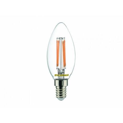 Boîte de 4 ampoules Led FLAMME E14 827 4,4W=40W CLA FIL SYLVANIA
