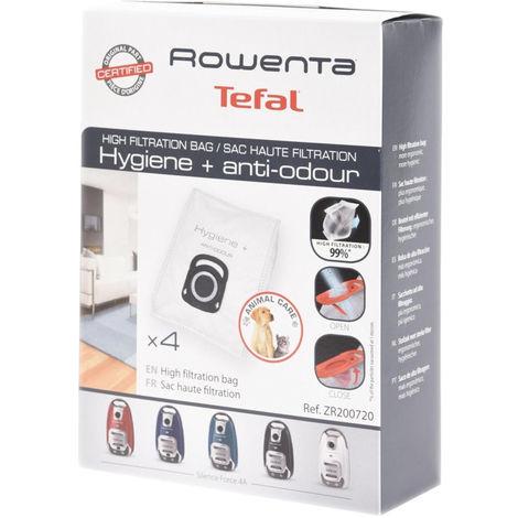 Boite de 4 sacs haute filtration (310642-34567) (ZR200720) Aspirateur 310642_3221613016302 ROWENTA