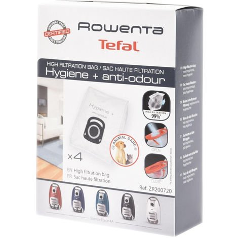 Boite de 4 sacs haute filtration (ZR200720) Aspirateur 310642 ROWENTA