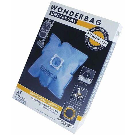 Boîte de 5 sacs microfibres WONDERBAG (44510-44369) (WB406120) Aspirateur ROWENTA, MOULINEX, CALOR