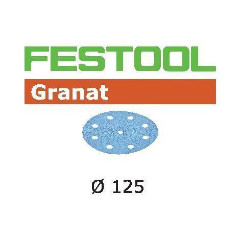 Boite de 50 abrasifs FESTOOL STF D125/90 P80 GR/50 - 497167