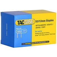 Boîte de 5000 agrafes galvanisées de type 53 L. 12 mm - TA-0450 - Tacwise - -
