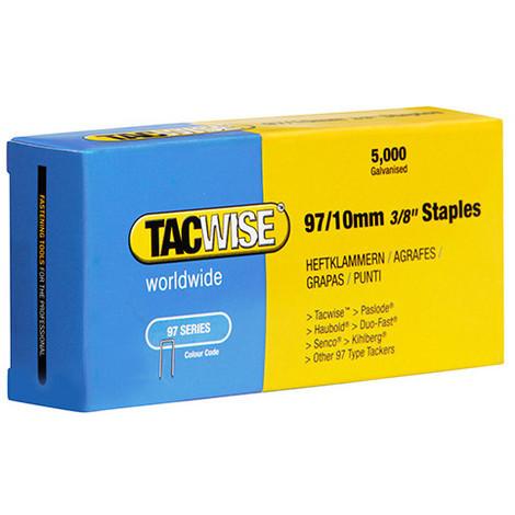 Boîte de 5000 agrafes galvanisées type 97 L. 10 mm - TA-0302 - Tacwise - -