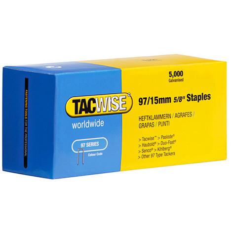 Boîte de 5000 agrafes galvanisées type 97 L. 15 mm - TA-0303 - Tacwise - -