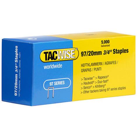 Boîte de 5000 agrafes galvanisées type 97 L. 20 mm - TA-0304 - Tacwise - -