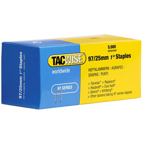 Boîte de 5000 agrafes galvanisées type 97 L. 25 mm - TA-0305 - Tacwise - -