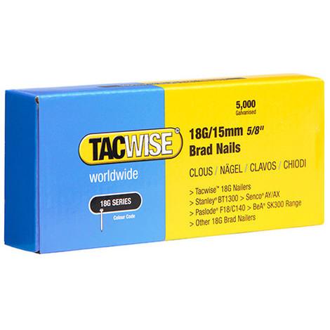 Boîte de 5000 clous de finition de type 18G L. 15 mm - TA-0394 - Tacwise - -