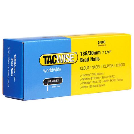 Boîte de 5000 clous de finition de type 18G L. 30 mm - TA-0397 - Tacwise - -