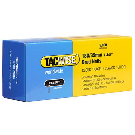 Boîte de 5000 clous de finition de type 18G L. 35 mm - TA-0399 - Tacwise - -