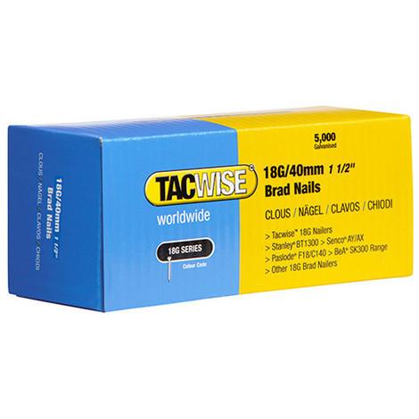 Boîte de 5000 clous de finition de type 18G L. 40 mm - TA-0400 - Tacwise - -