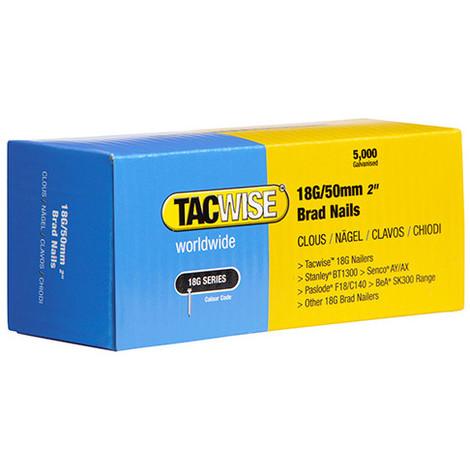 Boîte de 5000 clous de finition de type 18G L. 50 mm - TA-0401 - Tacwise - -