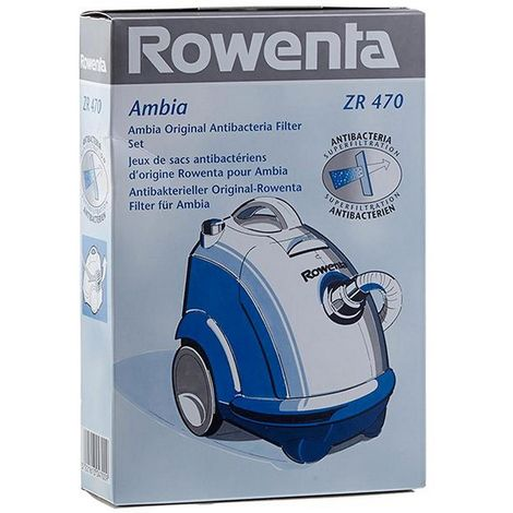 Boite de 6 sacs + 1 microfibre AMBIA (ZR470) Aspirateur 195197 ROWENTA