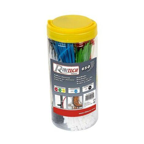 Boite de 650 colliers d'électricien - 7 tailles et couleurs différentes