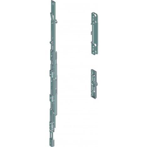 Boite de base oscillo-battant PVC cintre/trapèze gauche 12/20-13 ROTO - 1 galet par vantail - 245693