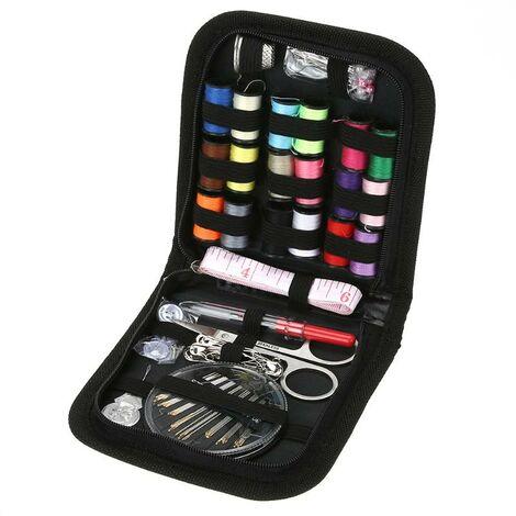 Boîte de couture multifonction, Kit d'outils, aiguilles de fil pour couture, boutons en tissu, ciseaux artisanaux, Kit de couture de voyage