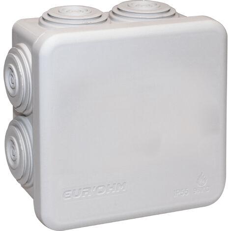 Boite de derivation 80x80x45 etanche batiment ip55 Eurohm sumohm