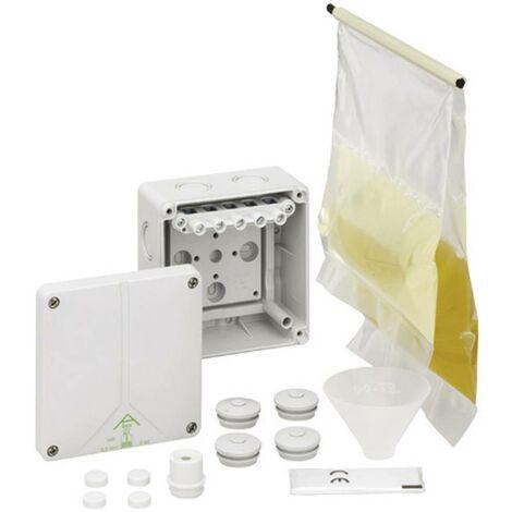 Boîte de dérivation avec masse de scellement Spelsberg 49240601 (L x l x H) 110 x 110 x 67 mm gris IP68 1 pc(s) S35560