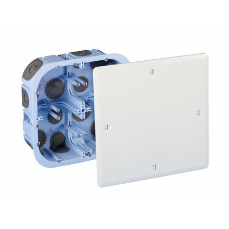 Boite de dérivation carrée encastrée avec couvercle placo XL Air'métic