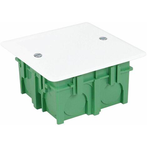 Boîte à encastrer avec couvercle 75x75x40mm verte