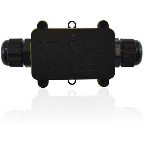 Boite de dérivation étanche IP68 IK08 2 entrées câble électrique Max 24A 450V