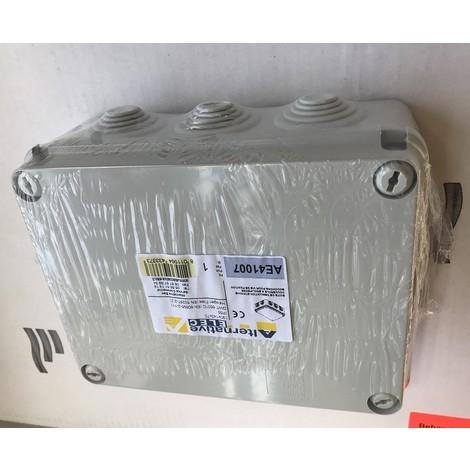 Boite de dérivation grise 190X140X70mm étanche à embouts IP55 couvercle vis isolées plombables (GEWISS GW44057)