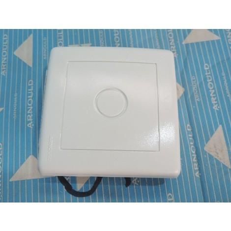 Boîte de dérivation / obturateur / sortie de câble blanc pose apparente sans cadre support PROFIL ARNOULD 63297