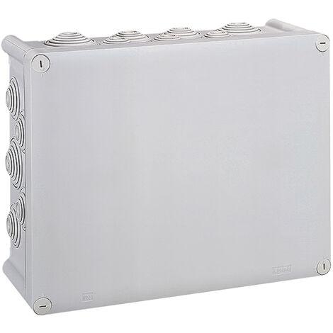 Boîte de dérivation rectangulaire Plexo dimensions 310x240x124mm - Gris RAL7035