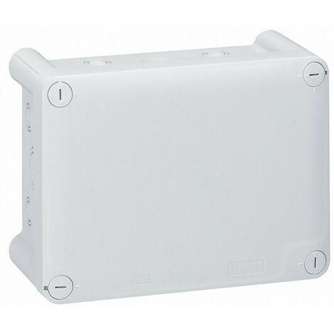Boîte de dérivation rectangulaire pour presse étoupe Plexo dimensions 155x110x74mm gris RAL7035 (092044)