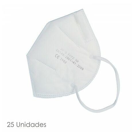 Boîte de masque pliable blanc FFP2 25 unités (emballées individuellement) AFT 15063014
