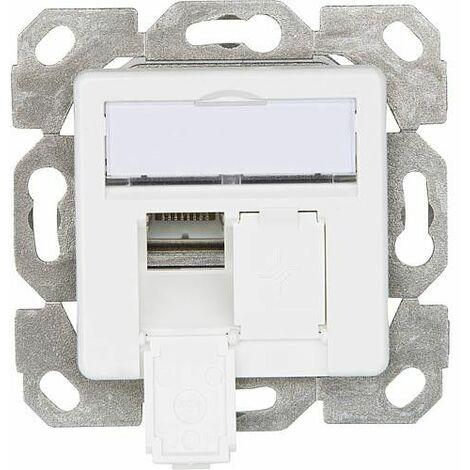Boite de raccordement AMJ45 8/8 K encastré/50 Cat.6A(IEC) blanc alpin 1 piece *BG
