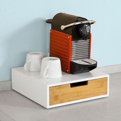 Boîte de Rangement à tiroir pour Capsules de thé et café Boîte à Capsules de Café FRG179-WN SoBuy®