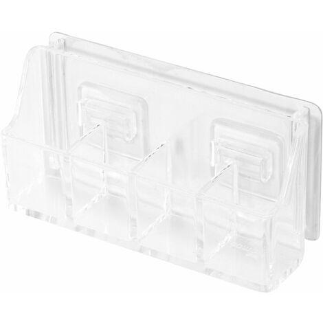 Boîte de rangement auto-adhésive - Transparente