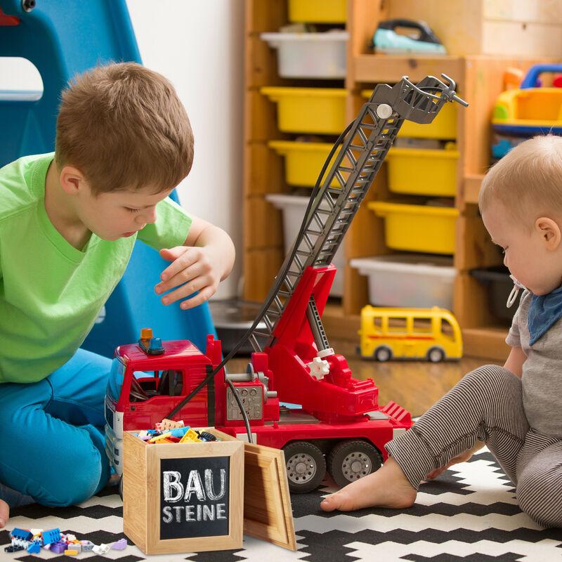 Boite De Rangement Bambou Couvercle Avec Tableau Ardoise Pour