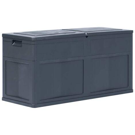 Boîte de rangement de jardin 320 L Noir