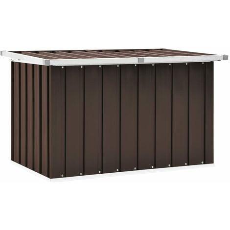 Boîte de rangement de jardin Marron 109x67x65 cm