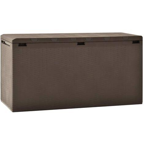 Boîte de rangement de jardin Marron 114x47x60 cm