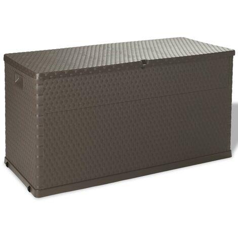 Boîte de rangement de jardin Marron 120x56x63 cm