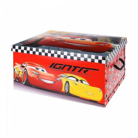Boîte de rangement en carton modèle cars
